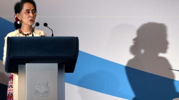 La dirigeante birmane Aung San Suu Kyi, à Singapour, le 21 août 2018