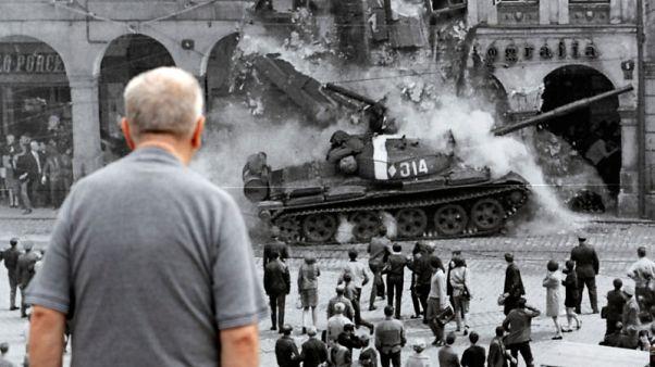 'Punch to the face' - Czechs mark half-century since Soviet invasion