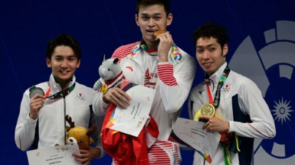 Jeux Asiatiques: le Chinois Sun Yang réussit le triplé 200-400-800 m