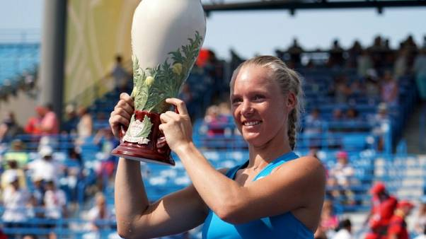 Tennis - Bertens withdraws from Connecticut Open
