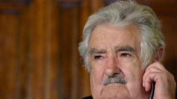 """José """"Pépé"""" Mujica, à Rome, le 28 mai 2015"""