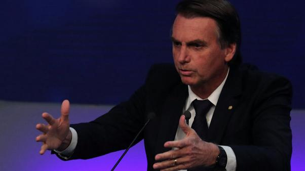 Right-wing Bolsonaro gains ground in Brazil presidential election - poll