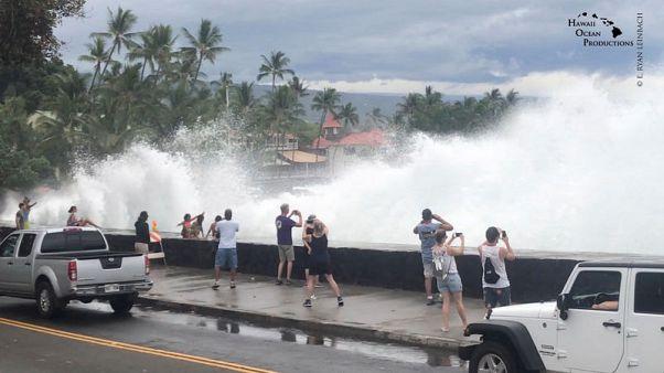 Lane weakens into tropical storm as flood hazard lingers over Hawaii