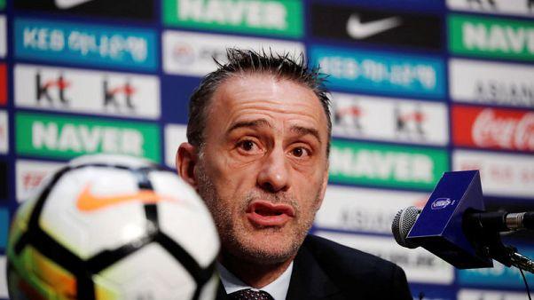 Football - New coach Bento targets long-term goals for South Korea
