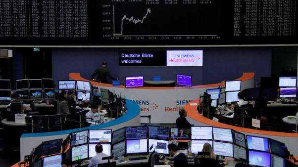 European shares nudge higher, trade tariffs dent autos
