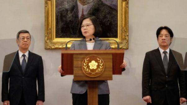 La présidente taïwanaise Tsai Ing-wen à Taipei, le 21 août 2018