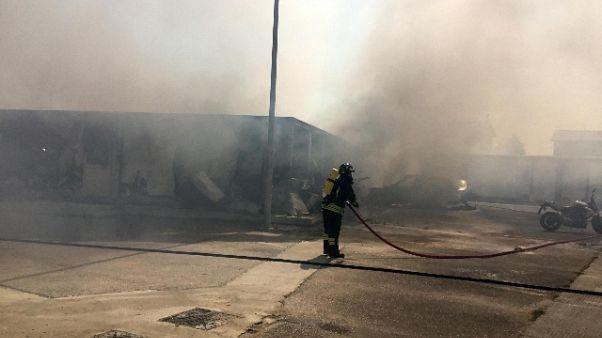 A fuoco base cantiere Terza Corsia A4