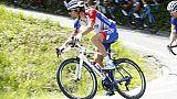 Thibaut Pinot, le 26 mai 2018, lors d'une étape du Tour d'Italie à Cervinia