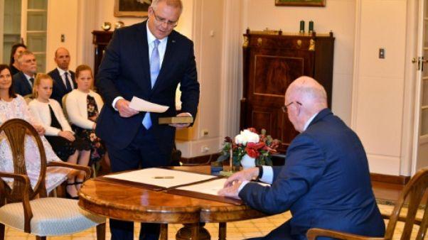 """Australie: Morrison investi Premier ministre après un nouveau """"putsch"""""""