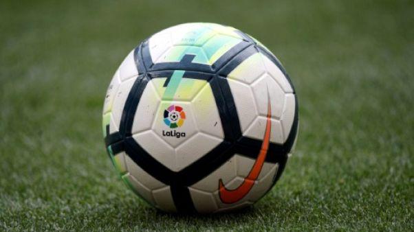 Espagne: fête du foot en banlieue de Madrid