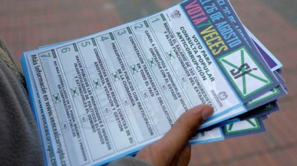 La Colombie vote dimanche sur la lutte contre la corruption