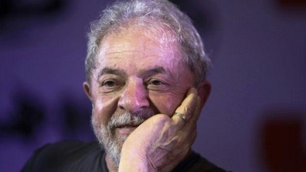 L'ancien président Lula da Silva à Sao Paulo au Brésil, le 22 février 2018