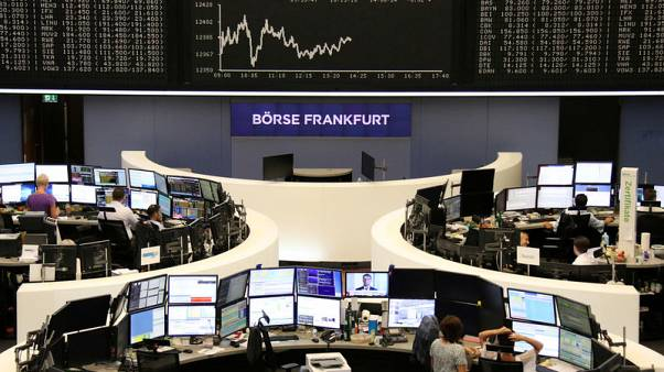 European shares edge up as Chinese stocks recover