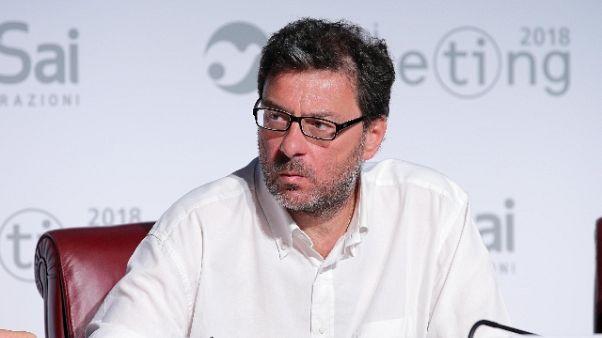 Figc:Leghe provoto'intervenga Giorgetti'