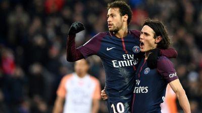 Ligue 1: trophées de meilleurs buteur et passeur remis à Cavani et Neymar