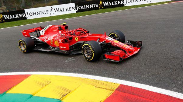 Motor racing - Raikkonen keeps Ferrari on top in Belgian GP practice