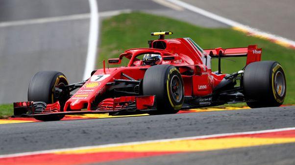 رايكونن يحافظ على صدارة فيراري بالتجارب الحرة لسباق بلجيكا