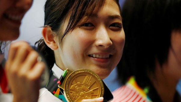اليابانية ايكي تحقق إنجازا بالفوز بست ذهبيات للسباحة بألعاب آسيا