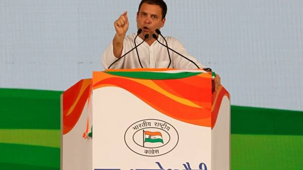 Eying election, Indian opposition leader sets out small business focus