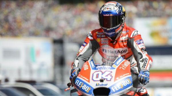 Moto: Dovizioso domine les séances d'essais du GP de Grande-Bretagne sur le sec