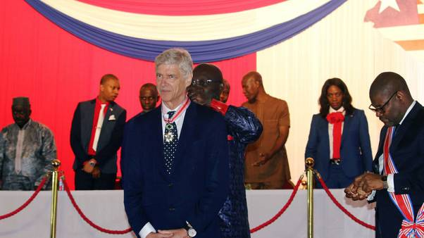 Former Arsenal manager Wenger receives Liberia's highest honour