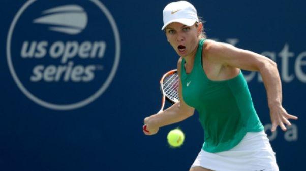 Simona Halep lors de la finale de Cincinnati le 19 août 2018