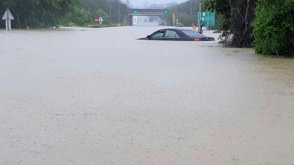 Certaines régions de Taïwan ont reçu plus d'un mètre d'eau depuis jeudi