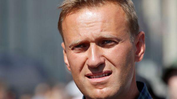 احتجاز زعيم المعارضة الروسي نافالني في موسكو بسبب مشاركته في احتجاج