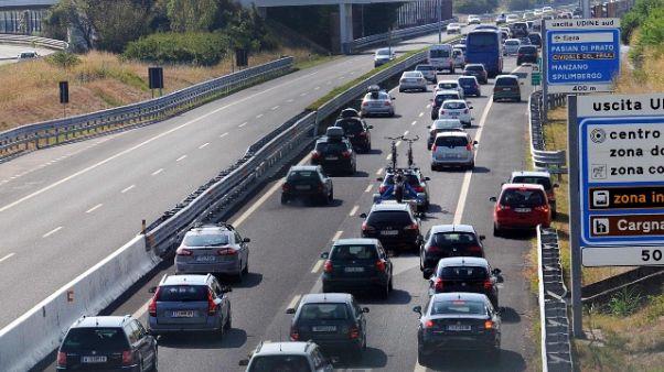 Estate: Autovie Venete,code fino a 13 km