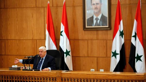 Syrian foreign minister to visit Moscow next week - RIA news agency