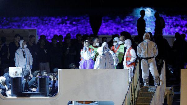 Doctors order 16 migrants off stranded Italian boat as Salvini defies U.N.