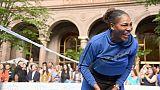 Serena Williams à New York le 23 août 2018