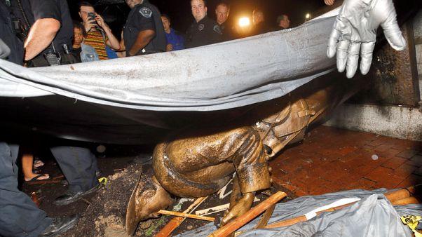 Seven arrested at Confederate statue protest in North Carolina