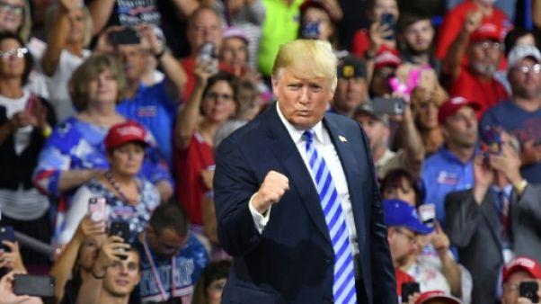 Donald Trump à Charleston, en Virginie occidentale, le 21 août 2018