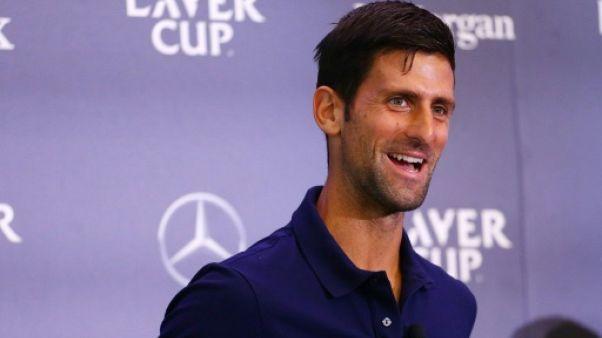 Novak Djokovic lors de la Laver Cup le 21 août 2018 à New York