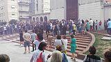 Commozione funerali giovane accoltellato