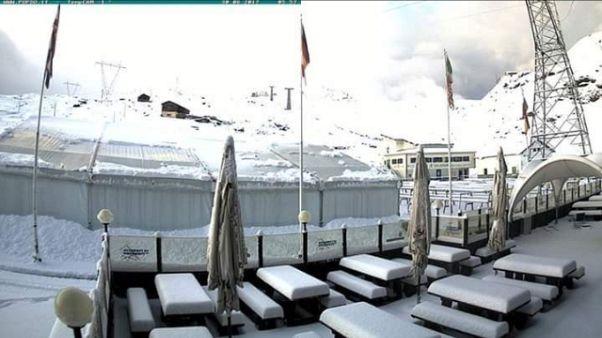 Grandine e neve in Valtellina
