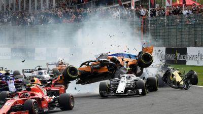 GP de Belgique: abandon d'Alonso, Hülkenberg et Leclerc après un gros crash au départ