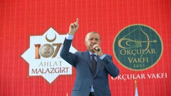 أردوغان يتعهد بتحقيق السلام والأمن في سوريا والعراق