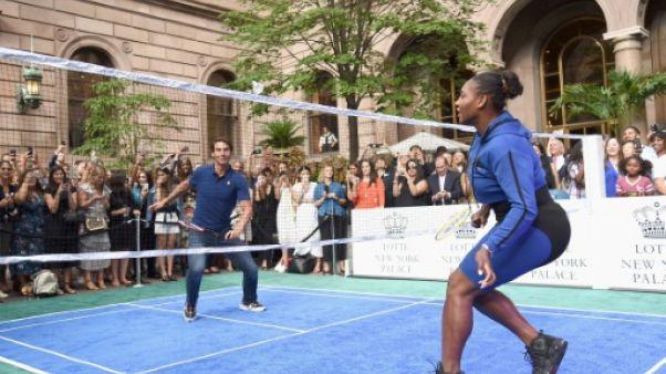 Rafael Nadal et Serena Williams à New York le 23 août 2018