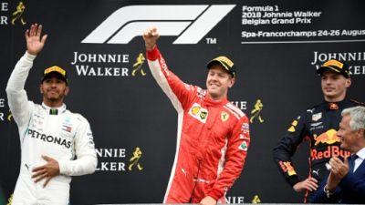 GP de Belgique: Vettel grignote Hamilton avec un succès plein de promesses