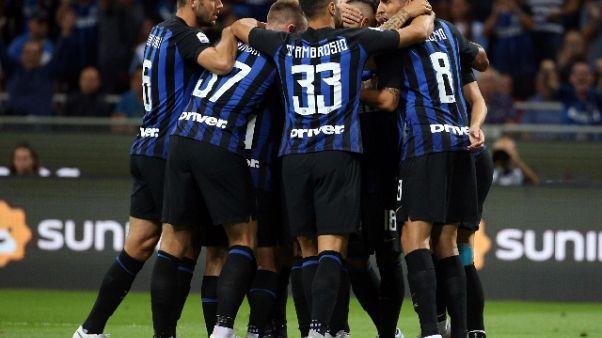 Serie A: pari Inter, viola a valanga