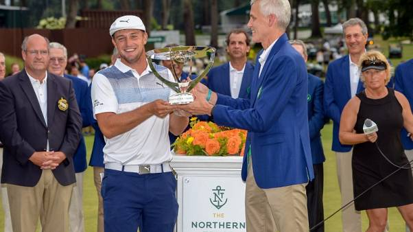 DeChambeau claims four-stroke victory in FedEx Cup opener