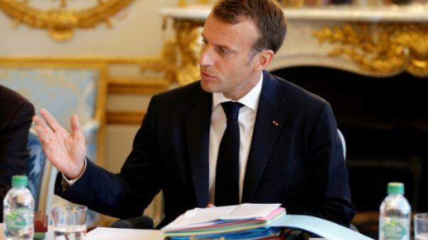 Le président français Emmanuel Macron à L'Elysée le 03 août 2018
