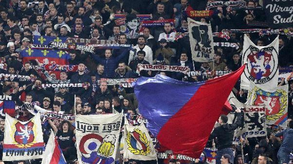 Champions: Lione, 1 match a porte chiuse