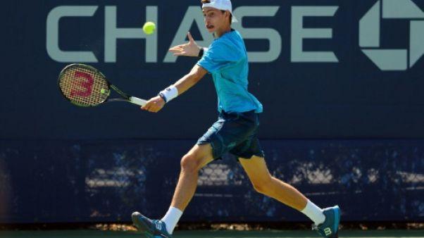 Le Français Ugo Humbert au premier tour de l'US Open le 6 septembre 2015
