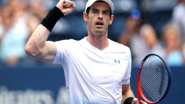 Andy Murray se qualifie pour le 2e tour de l'US Open le 27 août 2018
