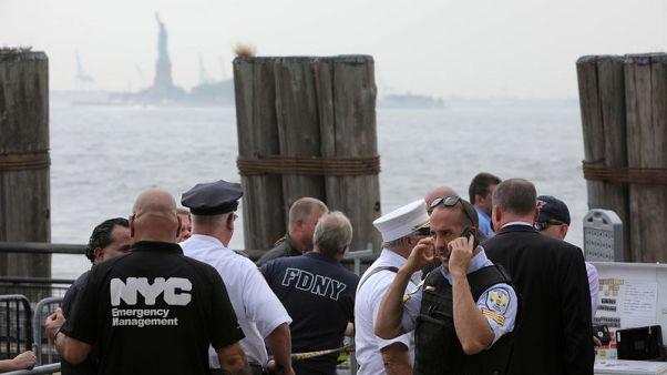 إجلاء آلاف الزوار من جزيرة تمثال الحرية في نيويورك إثر حريق