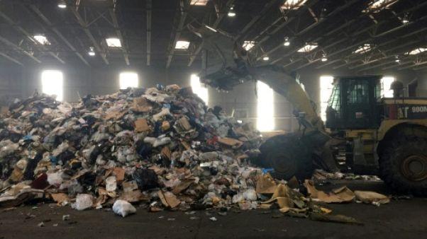 Une station de séparation des déchets à Washington, le 10 juillet 2018