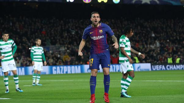 Soccer-Alcacer joins Dortmund on loan after Barca struggles
